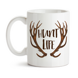 Coffee Mug, Hunt Life, Hunting Gift, Gift For Hunters, Born To Hunt, Love Hunting, Antlers, Deer, Rack, Gift Idea, Coffee Cup at GroovyGiftables.com