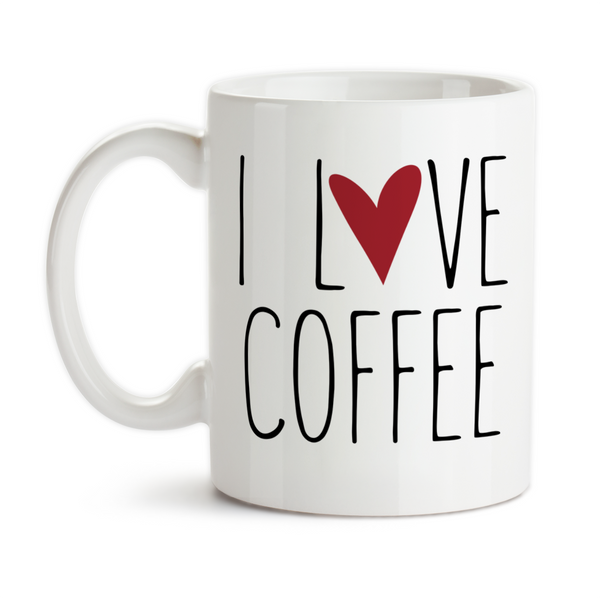 Coffee Mug, I Love Coffee, I Heart Coffee, Coffee Lover, Must Have Coffee, Coffee Addict