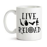 Coffee Mug, Live Love Reload 2nd Amendment, Right To Bear Arms, Funny Humor, Gifts