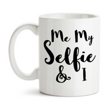 Coffee Mug, Me My Selfie (Myself) and I Funny Humor, Gift Idea, Coffee Cup at GroovyGiftables.com