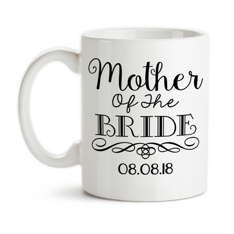 Coffee Mug, Mother Of The Bride 004 MOTB Gift Swirl Elegant Bridal Party Wedding, Gift Idea, Coffee Cup at GroovyGiftables.com