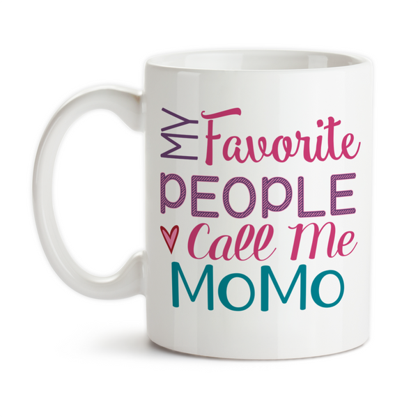 Coffee Mug, My Favorite People Call Me MoMo Grandmother Grandchildren Mother's Day Birthday, Gift Idea, Coffee Cup at GroovyGiftables.com