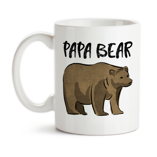 Coffee Mug, Papa Bear Bear Art Father's Day Dad's Birthday Christmas, Gift Idea, Coffee Cup at GroovyGiftables.com