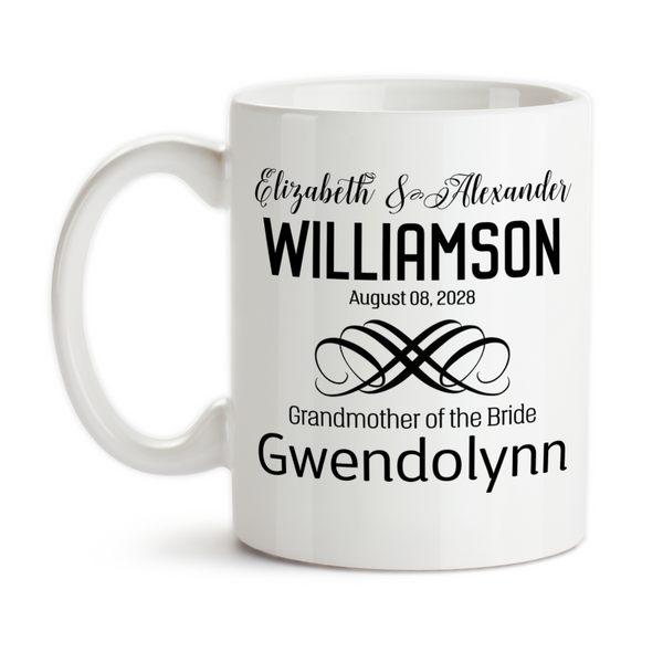 Coffee Mug, Personalized Wedding Party With Bride and Groom Date Est, Bridesmaid, Groomsman, & More, Gift Idea, Coffee Cup at GroovyGiftables.com