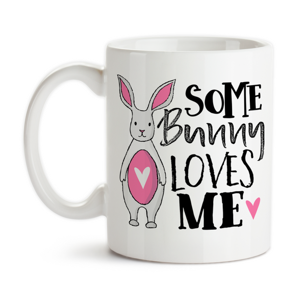 Coffee Mug, Some Bunny Loves Me, Somebody Loves Me, Valentine's Day Gift, Anniversary Gift, Bunny Rabbit, Gift Idea, Coffee Cup at GroovyGiftables.com