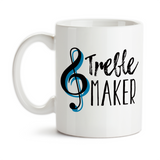 Coffee Mug, Treble Maker, Music Teacher, Music Lover, Pianist, Piano, Instrument, Music Humor