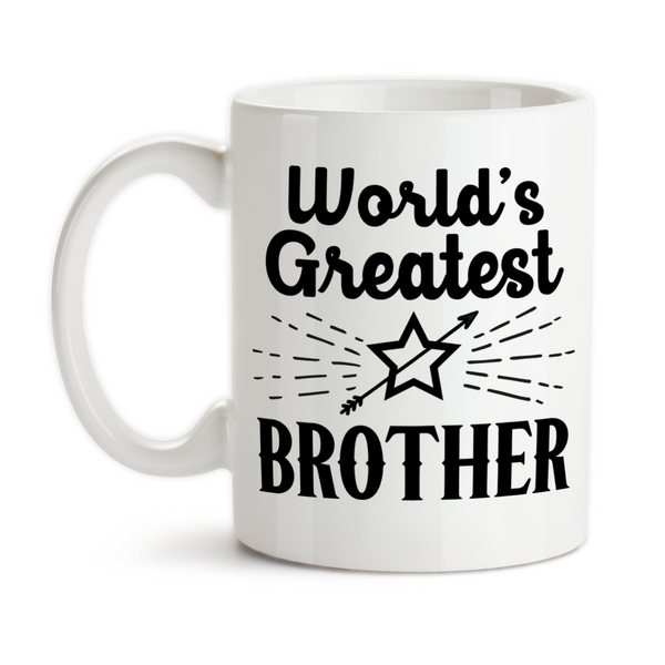 Coffee Mug, World's Greatest Brother Best Brother Number One Brother Gift For Brother Siblings, Gift Idea, Coffee Cup at GroovyGiftables.com