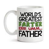Coffee Mug, World's Greatest Farter, World's Greatest Father, Funny Father's Day