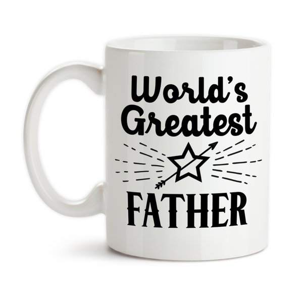 Coffee Mug, World's Greatest Father Best Father Number One Father's Day Dad Birthday, Gift Idea, Coffee Cup at GroovyGiftables.com