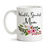 Coffee Mug, World's Greatest Mom Best Mother Family Son Daughter Mother's Day Birthday Christmas, Gift Idea, Coffee Cup at GroovyGiftables.com
