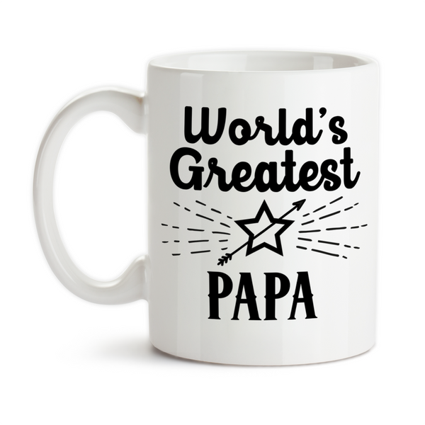 Coffee Mug, World's Greatest Papa Gift From Grandchildren Best Number One Grandpa, Gift Idea, Coffee Cup at GroovyGiftables.com