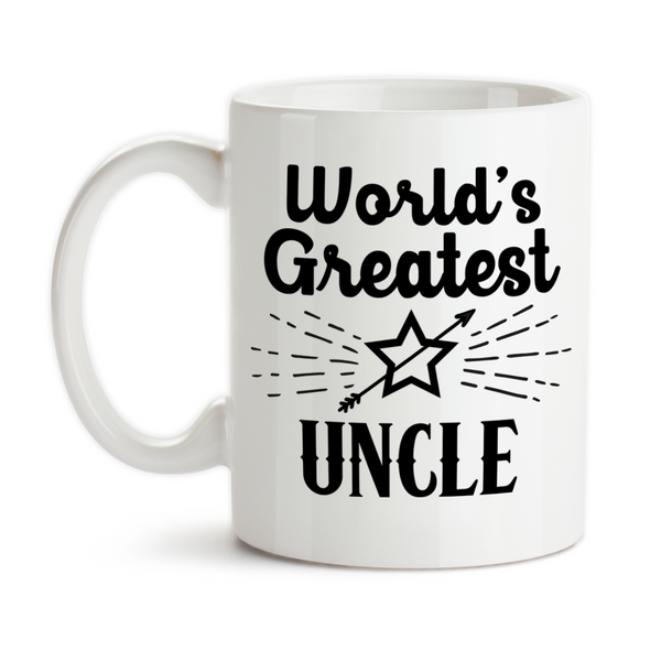 Coffee Mug, World's Greatest Uncle Niece Nephew Best Uncle #1 Favorite Birthday Christmas, Gift Idea, Coffee Cup at GroovyGiftables.com