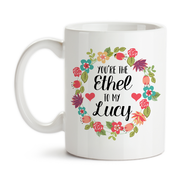 Coffee Mug, You're The Ethel To My Lucy Best Friends Forever Birthday Christmas, Gift Idea, Coffee Cup at GroovyGiftables.com