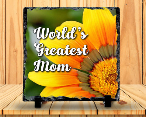 Slate Sign - World's Greatest Mom, Mother's Day, Mom's Birthday, Gift For Mom, Best Mom , Home Decor