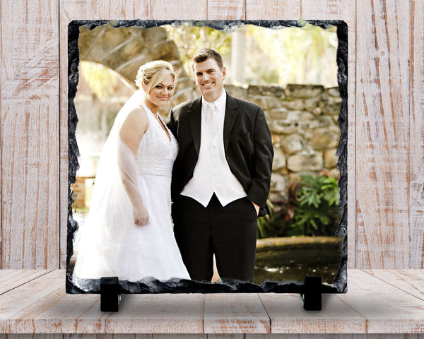 Slate Sign - Wedding Photo Plaque, Wedding Photo Sign, Mr and Mrs, Wedding Keepsake , Home Decor