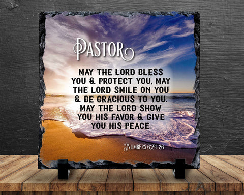 Slate Sign - Pastor Gift, Preacher Gift, Bible Verse, Pastor Prayer, Preacher Prayer , Home Decor