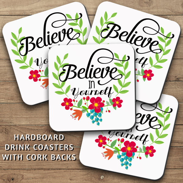 Drink Coasters, Believe In Yourself 001, Do It, Girl Boss, Graduation, Hustling, You Got This