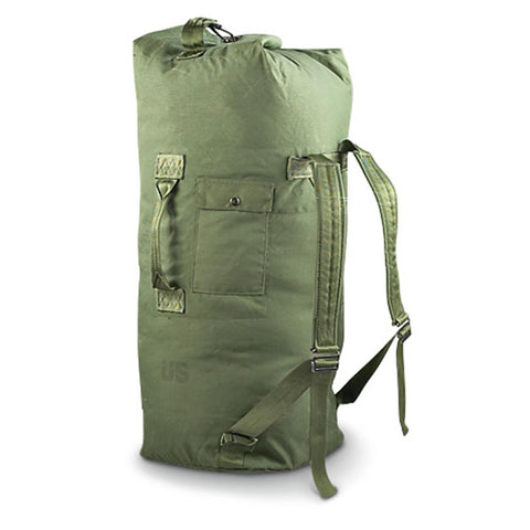 Military Surplus OD Green Nylon Duffel Bag