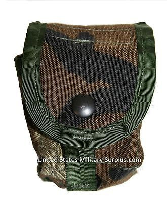 3 Military Surplus Woodland Grenade, Multipurpose, Utility Pouches