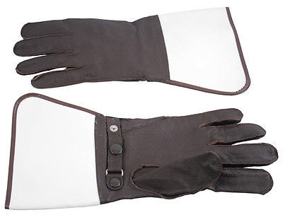 Genuine Leather Motorcycle Gloves Motorbike Biker Glove Brown