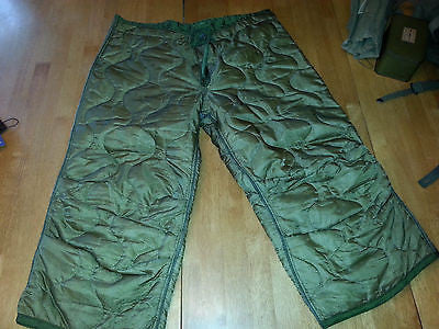 Medium Military Surplus USMC Army M-65 Pant Liners - Good used
