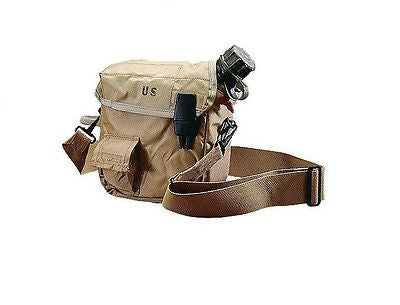 New Tan US Military 2 Quart Canteen and Cover