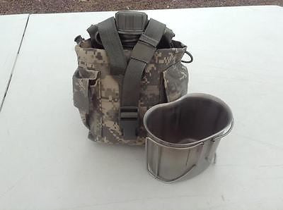 USA ARMY MOLLE General 1 QT Utility Pouch ACU Cover, Canteen & Cup USGI
