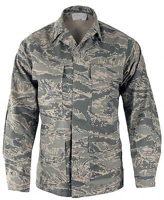 US Air Force USAF ABU Airman Battle Uniform Digital Tiger Stripe Coat Women's
