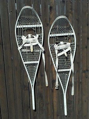 NEW Snowshoes Genuine Issue Military Army Magnesium White Snow Shoe w/ Bindings
