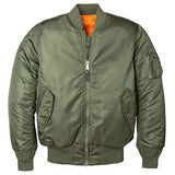 Alpha Industries Women's MA-1 Flight Jacket in Sage, Black or Commander Red