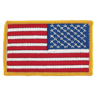 Full Color Reversed American Flag Insignia Patch - US Military