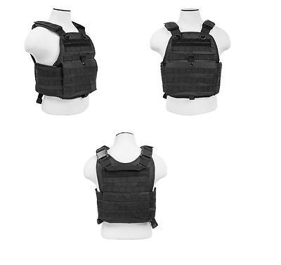 Tactical Molle Plate Carrier Vest Body Armor  Black