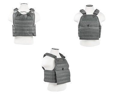 Tactical Molle Plate Carrier Vest Body Armor Urban Grey