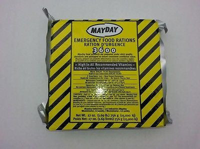 Mayday Food Bars 6 Day Survival Food Ration - Taste Great