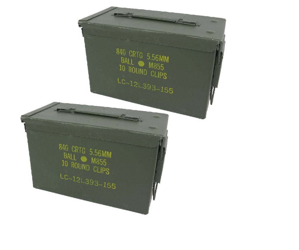 2 (Two) 50 Cal Ammo Cans