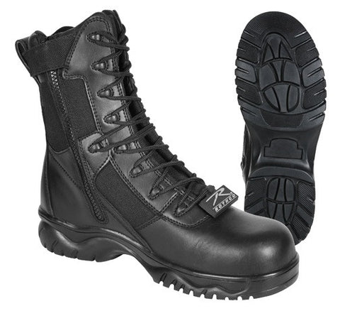 Side Zip Composite Toe Forced Entry Tactical Boot - Black