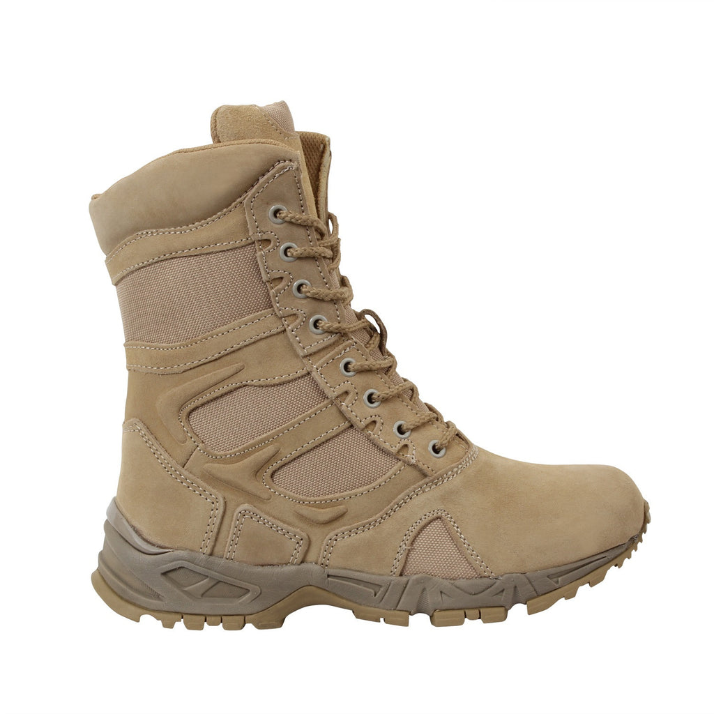 Side Zip Forced Entry Tactical Boot Desert Tan & Black