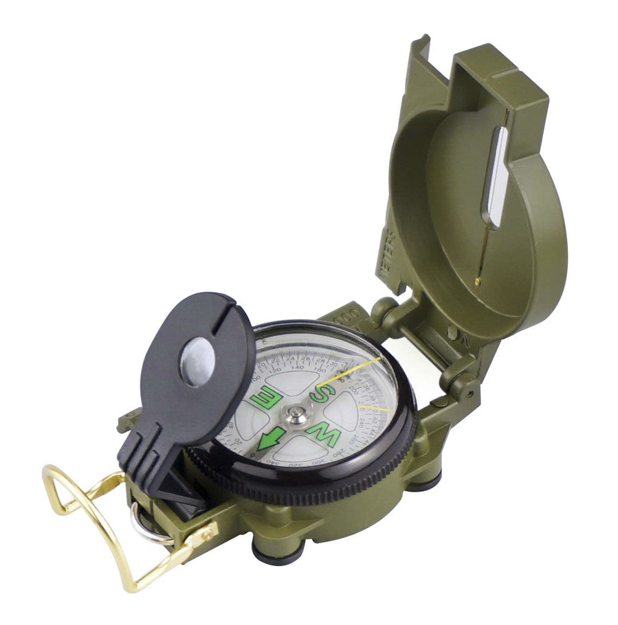 Precision Engineering / Marching Lensatic Compass with Map Scale, Green Color
