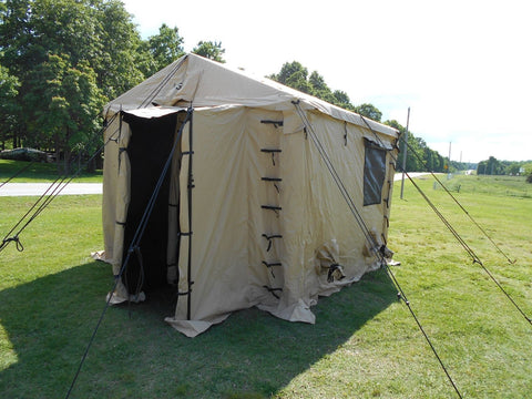Military Surplus Command Post Tent 11 x 11 Desert Tan