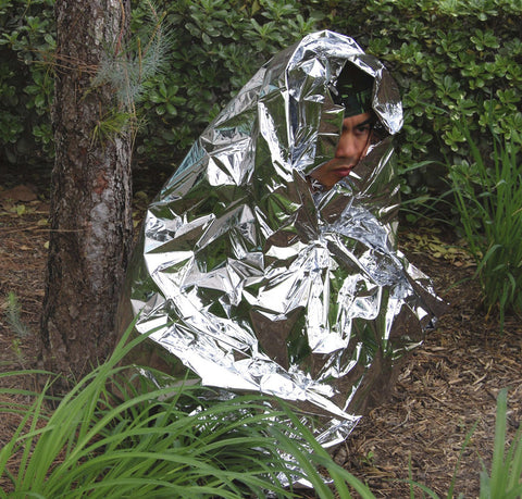 "Three (3) Emergency Sleeping Blankets, Mylar Material : Dimension : 52"" x 82"""
