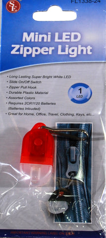 Mini Zipper Lite With White LED  (3 pack)