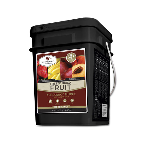 Gluten Free 152 Servings Freeze Dried Fruit - Wise Company Food Supply (grab n' go bucket)