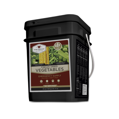 Gluten Free 160 Serving Freeze Dried Vegetables - Wise Company Food Supply   (grab n' go bucket)