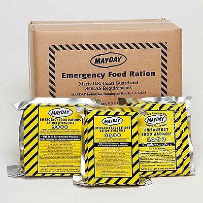 Single Emergency Survival Food Ration Bars:  400, 1200, 2400 and 3600 Calorie Bars