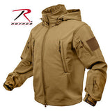 Special Ops Tactical Soft Shell Jacket Olive Drab and Coyote Brown