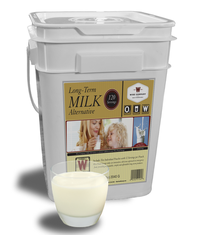 120 Servings Wise Long-Term Milk -  Wise Company Food Supply (Grab n' Go Bucket)