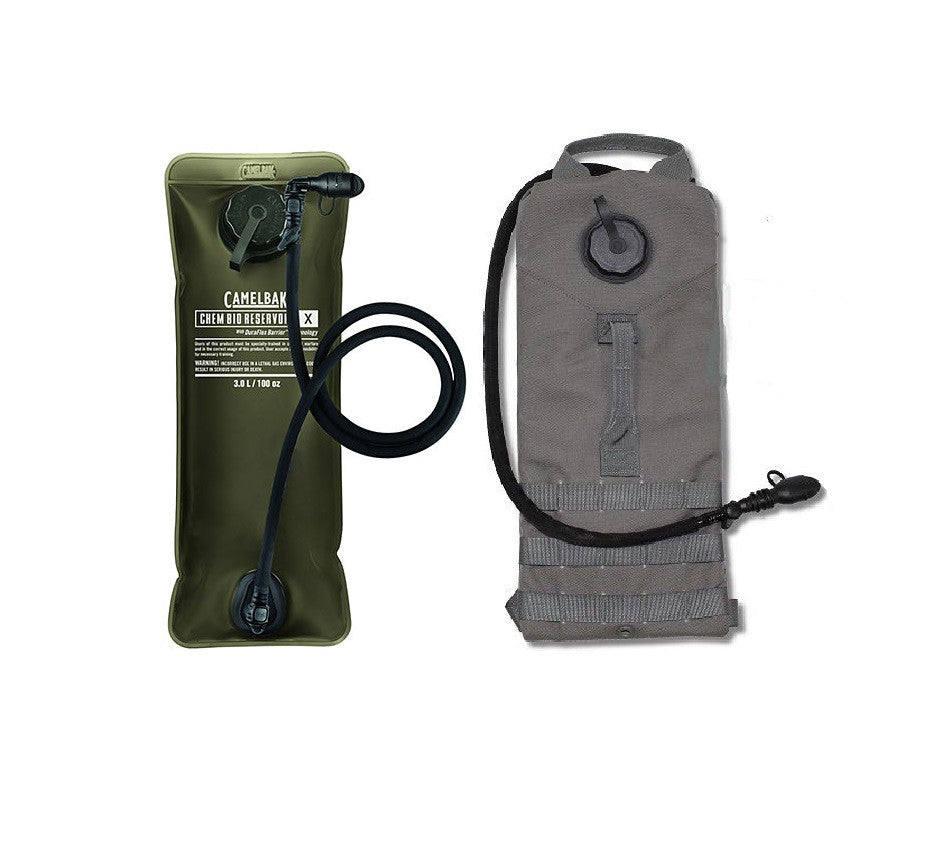 NEW CamelBak Chem Bio Reservoir 3L Bladder with Military Storm Hydration Carrier