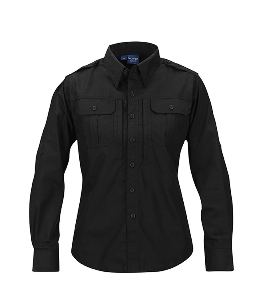 PROPPER™ Womens Tactical Dress Shirt - Long Sleeve Black & LAPD Navy