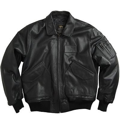 Alpha Industries CWU 45/P Leather Flight Jacket  in Black or Brown