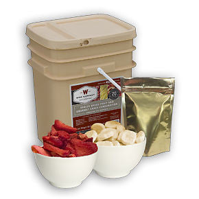 120 Servings Freeze Dried Fruit - Wise Company Food Supply   (grab n' go bucket)